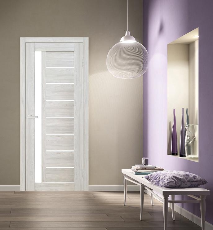Полотно межкомнатной двери Cortex 09, серый/дубовый, 200 см x 80 см x 4 см