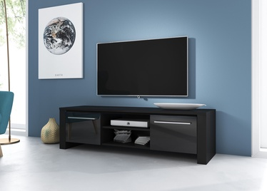 TV galds Vivaldi Meble Manhattan, melna, 1400x422x400 mm