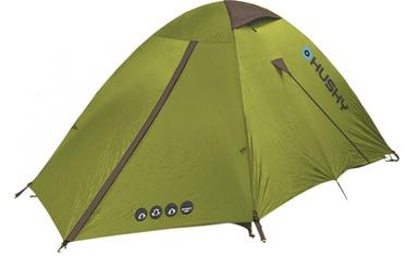 Divvietīga telts Husky, zaļa