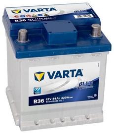 Аккумулятор Varta Blue Dynamic B36, 12 В, 44 Ач, 420 а
