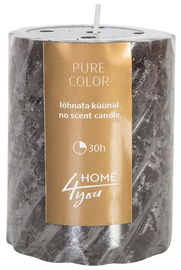 Home4you Candle Pure Colour D6.8xH9.5cm Gray