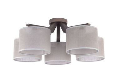 Lubinis šviestuvas TK Lighting Dove gray 1765, 5X60W, E27