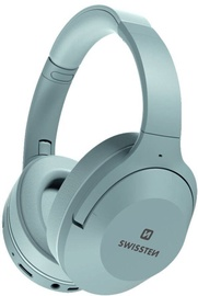 Belaidės ausinės Swissten Huricane Grey