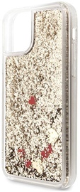 Guess Liquid Glitter Hearts Back Case For Apple iPhone 11 Pro Max Gold