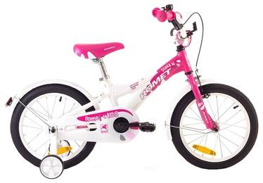 """Romet Diana 16"""" White Pink 18"""