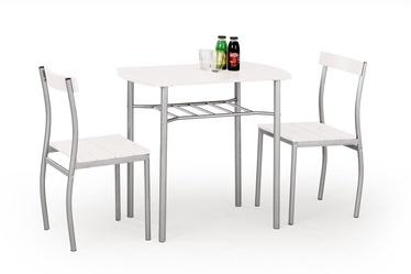 Valgomojo baldų komplektas Lance baltas, 2 asmenims