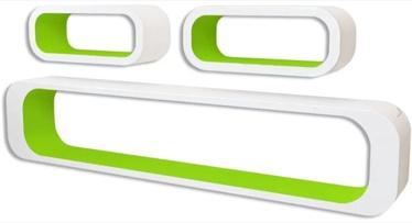 Полка VLX Cubes 242163, белый/зеленый, 95 см x 16 см x 17.5 см