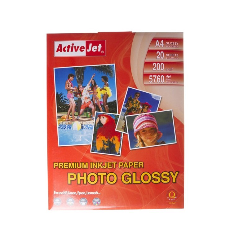 Fotopaber ActiveJet Photo Paper A4 200 Gloss 20 Pages