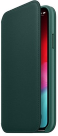 Apple Leather Folio Case For Apple iPhone XS Max Forest Green