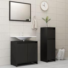 Комплект мебели для ванной VLX 3056926, черный, 30 x 30 см x 95 см