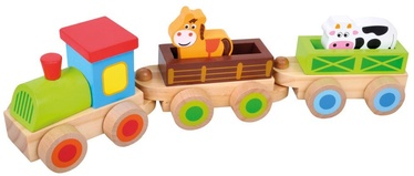 Bino Train Set With Blocks 35cm