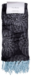 Home4you Elle Fine Blanket With Fringes 127x152cm Dark Gray