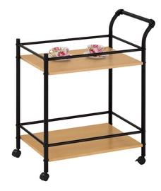 Барный стол Halmar Bar 12 Black/Natural, 840x740x410 мм