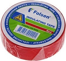 Folsen Insulating Tape 10m Red