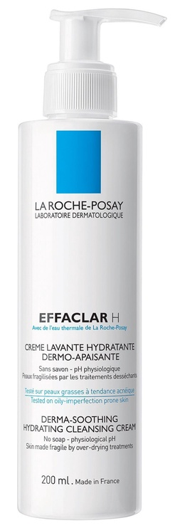 Makiažo valiklis La Roche Posay Effaclar H Derma-Soothing Cleansing Cream, 200 ml