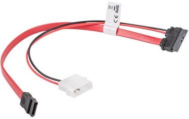Lanberg 1 x Molex 2-pin Male to SATA Male / SATA Slimline CA-SASL-10CU-0035-R