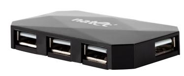 Natec 4-port USB Hub Locust USB 2.0 Black