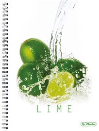 Herlitz Spiral Pad A4 Fresh Fruit Lime 11291697