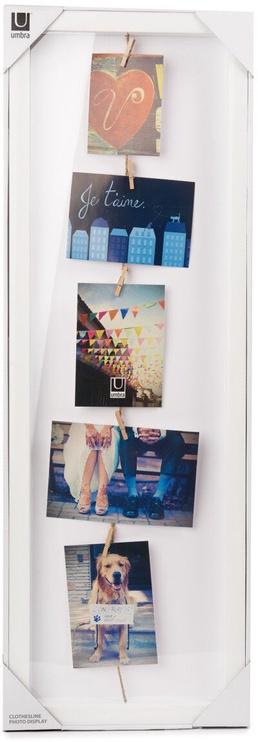 Umbra Clothes Line Flip Photo Frame White