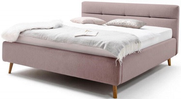 Gulta Meise Möbel Lotte Old Pink, 200x160 cm, ar režģi