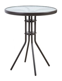 Home4you Dublin Garden Table 60x70cm Dark Brown