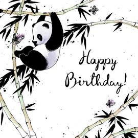 Clear Creations Panda Birthday Card CL2503
