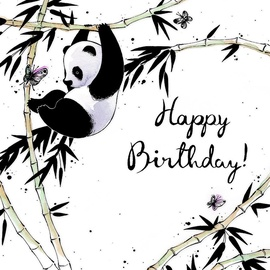 Clear Creations Panda Birthday Card CL2503
