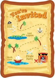 Amscan Pirate Party Postcard Invitations 498221