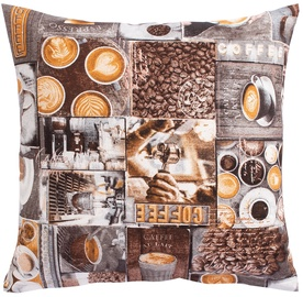 Декоративная подушка Home4you Holly, коричневый, 450x450 мм