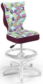 Entelo Petit Black HC+F Size 4 Children Chair ST32 White/Owls