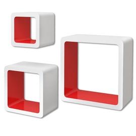 Полка VLX Cube 242170, белый/красный, 23 см x 10 см x 23 см