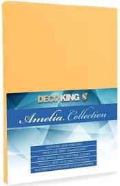 Простыня DecoKing Amelia Orange, 160x200 см, на резинке