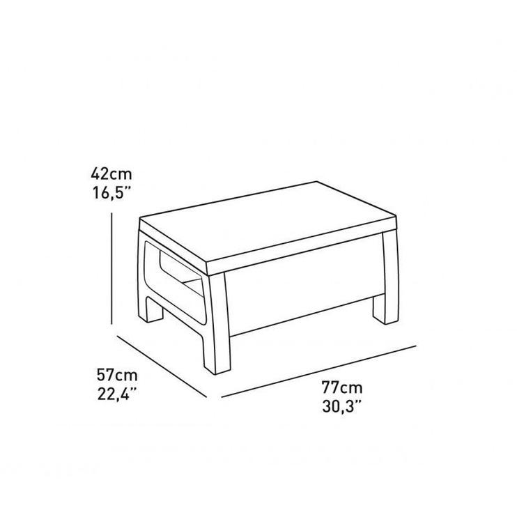 Sodo baldų komplektas Keter Corfu Grey