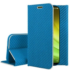 Mocco Carbon Leather Book Case For Huawei P30 Blue