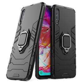 Hurtel Ring Armor Back Case For Samsung Galaxy A70 Black