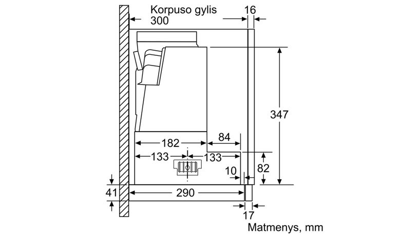 Iebūvēts tvaika nosūcējs Bosch DFS067E51