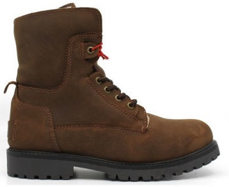 Wrangler Aviator Leather Boots Chestnut Brown 42