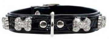 Hunter Collar Modern Art Bone Black 40cm
