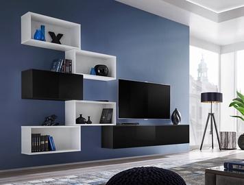 Svetainės baldų komplektas ASM Blox VIII White/Black