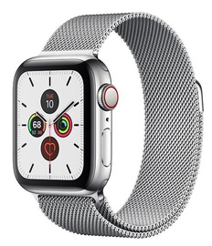 Išmanusis laikrodis Apple Watch Series 5 40mm GPS Stainless Steel Case with Milanese Loop Cellular