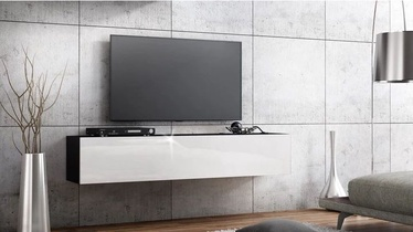 TV staliukas Pro Meble Milano Wall 160 Black/White, 1600x320x300 mm