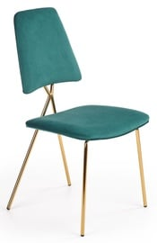 Halmar K411 Chair Dark Green/Gold