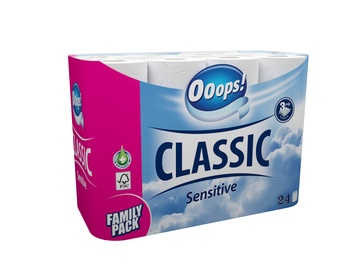 Tualetinis popierius Ooops! Classic, 3 sl., 24 vnt.