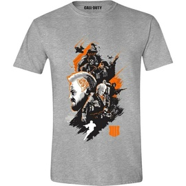 Licenced Call Of Duty Black Ops 4 Characters Montage T-Shirt Grey M