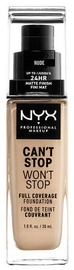 NYX Can't Stop Won't Stop Full Coverage Foundation 30ml Nude
