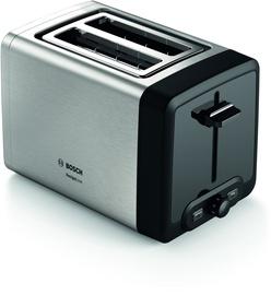 Tosteris Bosch TAT4P420, melna/nerūsējošā tērauda