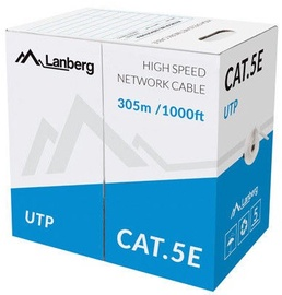 Lanberg Cable UTP CAT 5E CU Grey 305m