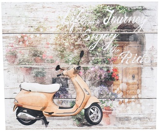 Home4you Print Picture 3D Metal 50x60cm Vespa