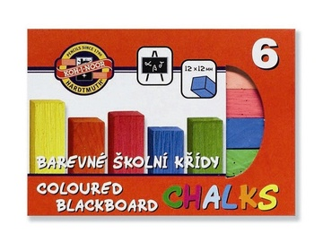 Koh-I-Noor Hardtmuth Coloured Blackboard Chalks 6pcs