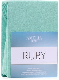 AmeliaHome Ruby Frote Bedsheet 220-240x200 Peppermint 54